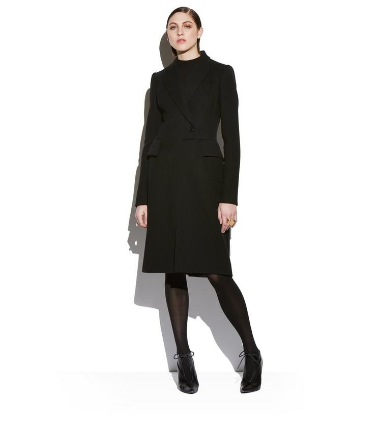 FITTED DOUBLE BREASTED LONG WOOL COAT B fullsize