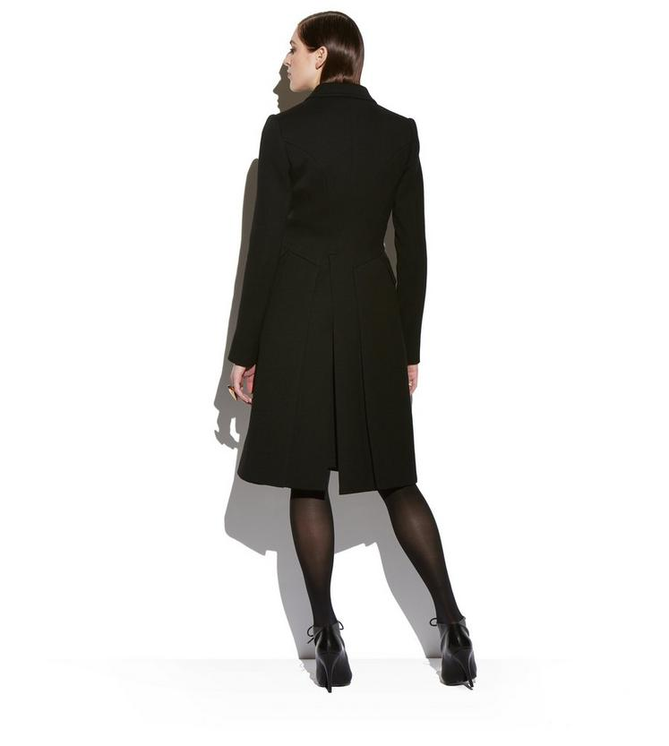 FITTED DOUBLE BREASTED LONG WOOL COAT C fullsize