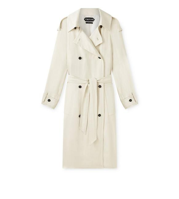 DOUBLE BREASTED TRENCH COAT A fullsize