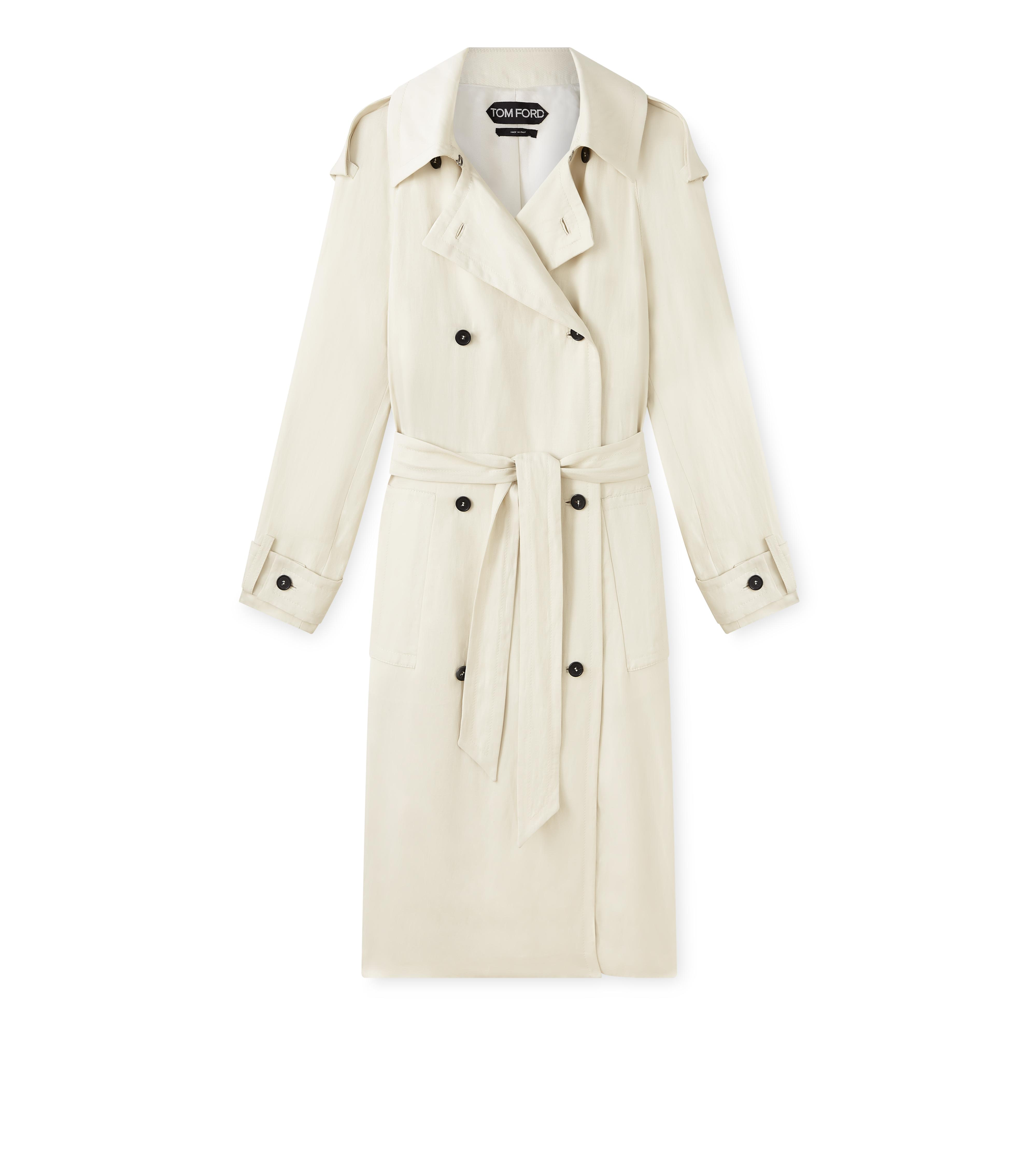 DOUBLE BREASTED TRENCH COAT A thumbnail
