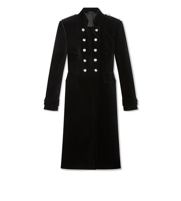 VELVET MILITARY COAT A fullsize