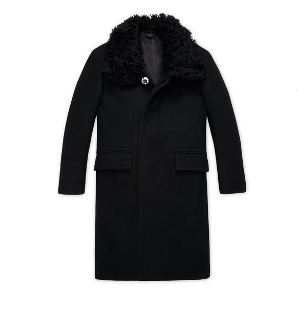 WOOL AND SHEARLING COAT A fullsize
