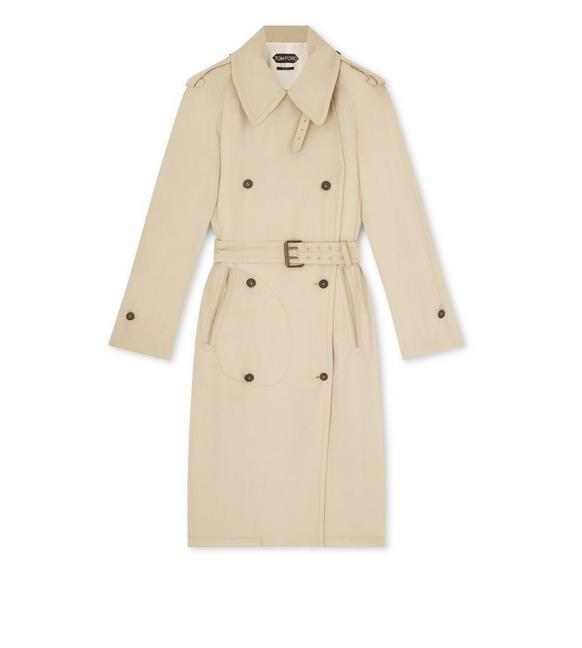 SOFT TRENCHCOAT WITH TONAL LEATHER A fullsize