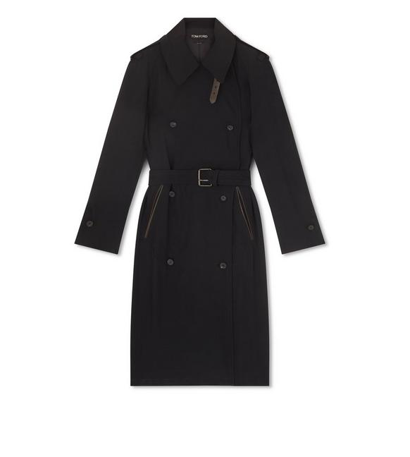 TRENCH COAT WITH LEATHER DETAILS A fullsize