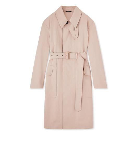 OVERSIZED BONDED WOOL TRENCH COAT
