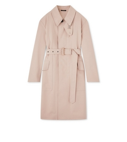 3005269631 OVERSIZED BONDED WOOL TRENCH COAT