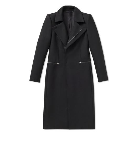 WOOL TWILL STRUCTURED COAT
