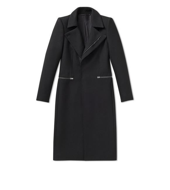 WOOL TWILL STRUCTURED COAT A fullsize