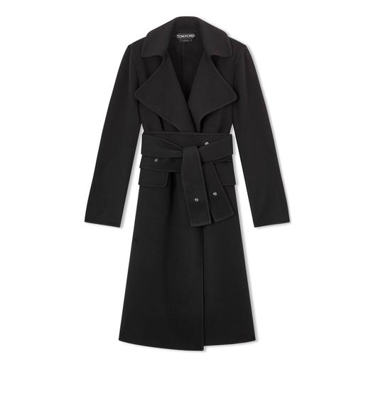 DOUBLE CASHMERE PEAK LAPEL COAT
