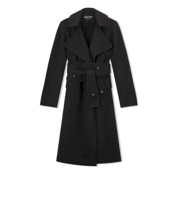 DOUBLE CASHMERE PEAK LAPEL COAT A fullsize