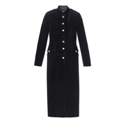 COTTON VELVET MILITARY COAT