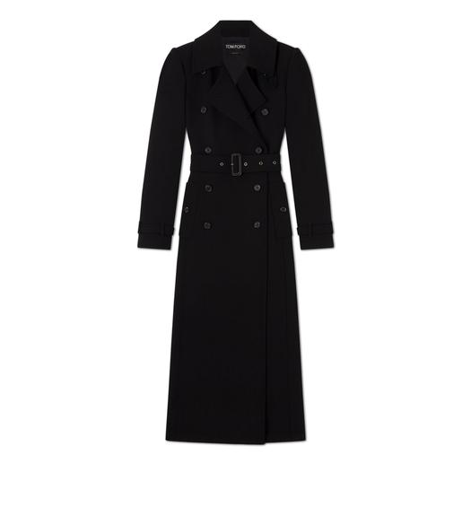 DOUBLE SPLITTABLE STRETCH WOOL TRENCH COAT
