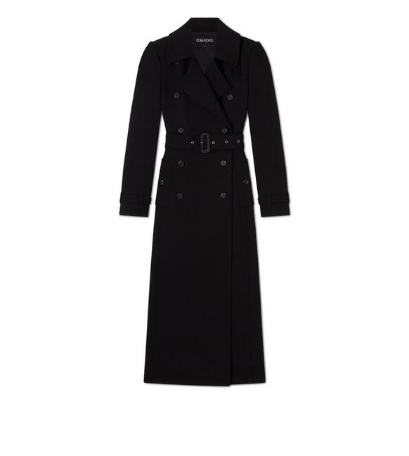 DOUBLE SPLITTABLE STRETCH WOOL TRENCH COAT A fullsize
