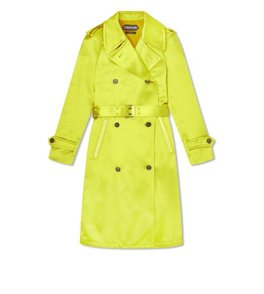 SILK WOOL DUCHESSE TRENCH COAT