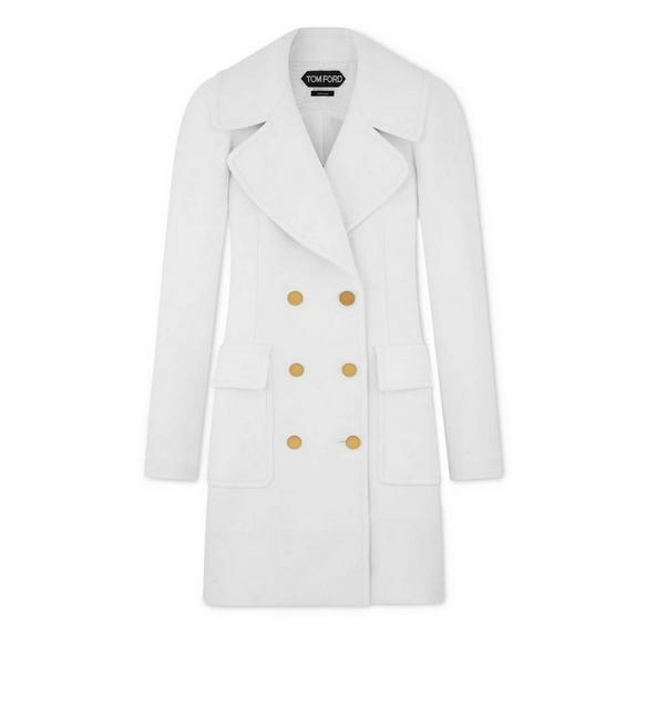 DOUBLE SPLITTABLE TWILL FITTED COAT A fullsize
