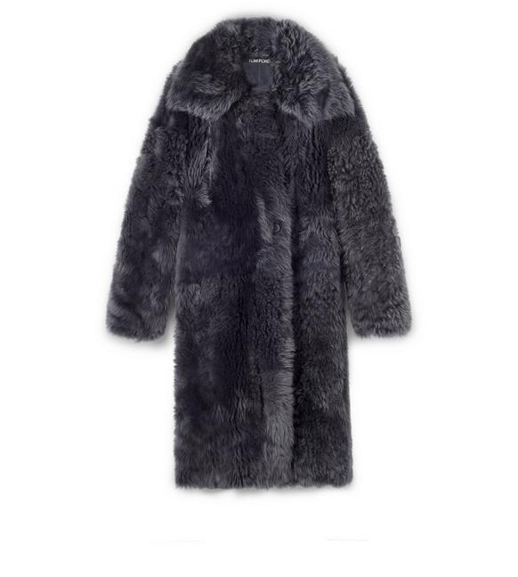 SHAGGY SHEARLING OVERSIZED COAT A fullsize
