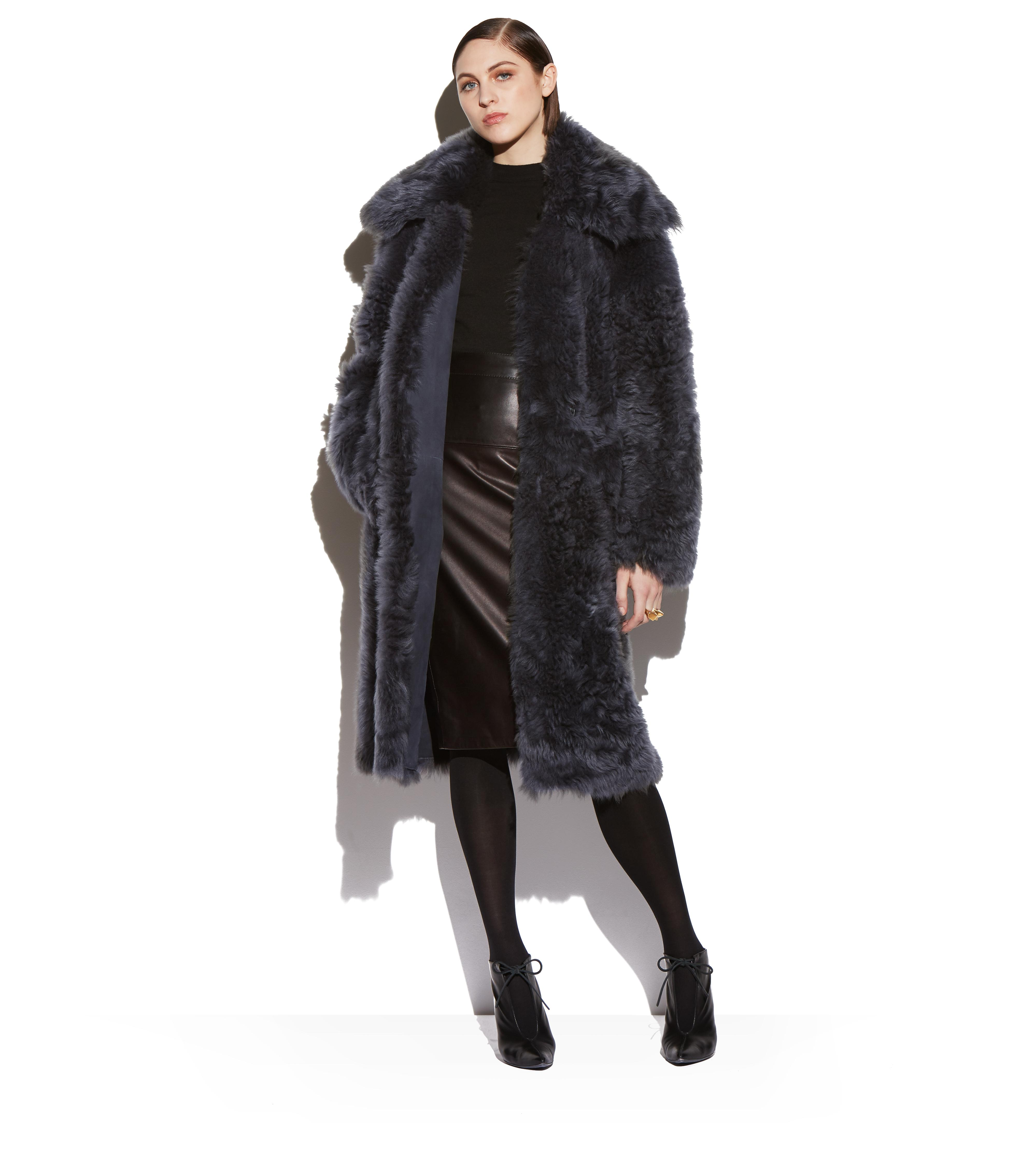 SHAGGY SHEARLING OVERSIZED COAT B thumbnail