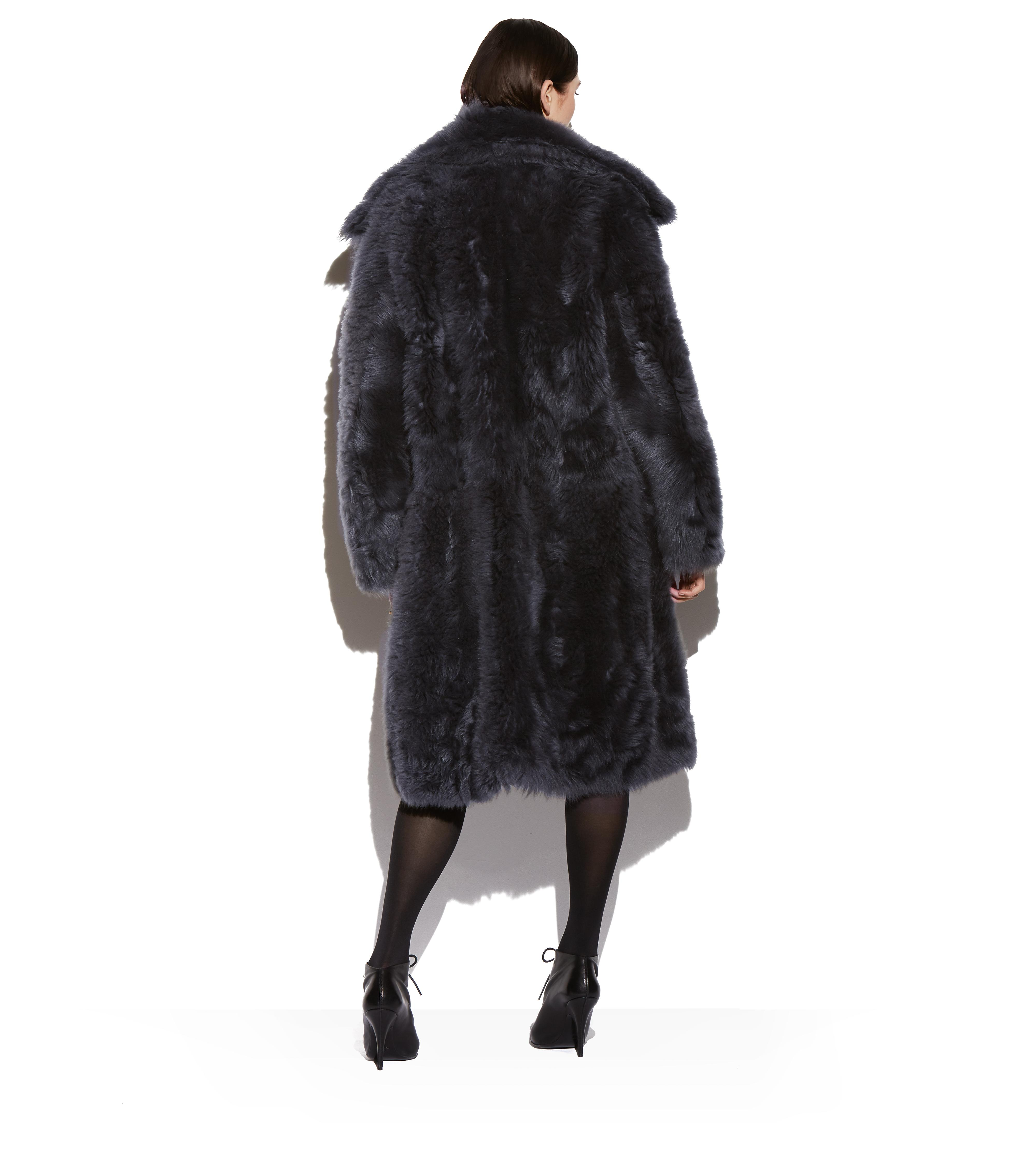 SHAGGY SHEARLING OVERSIZED COAT C thumbnail