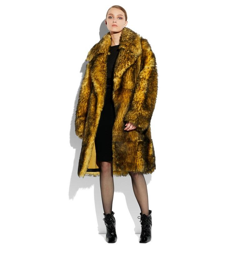 Tom Ford SHAGGY SHEARLING LONG COAT - Women | TomFord.com
