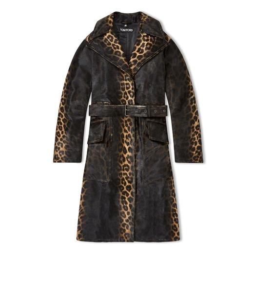 LEOPARD PRINTED OVERSIZED TRENCH COAT