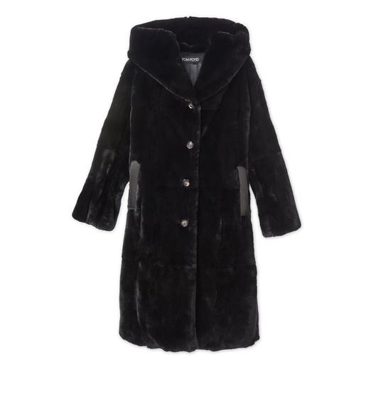 FAUX LAPIN HOODED COAT