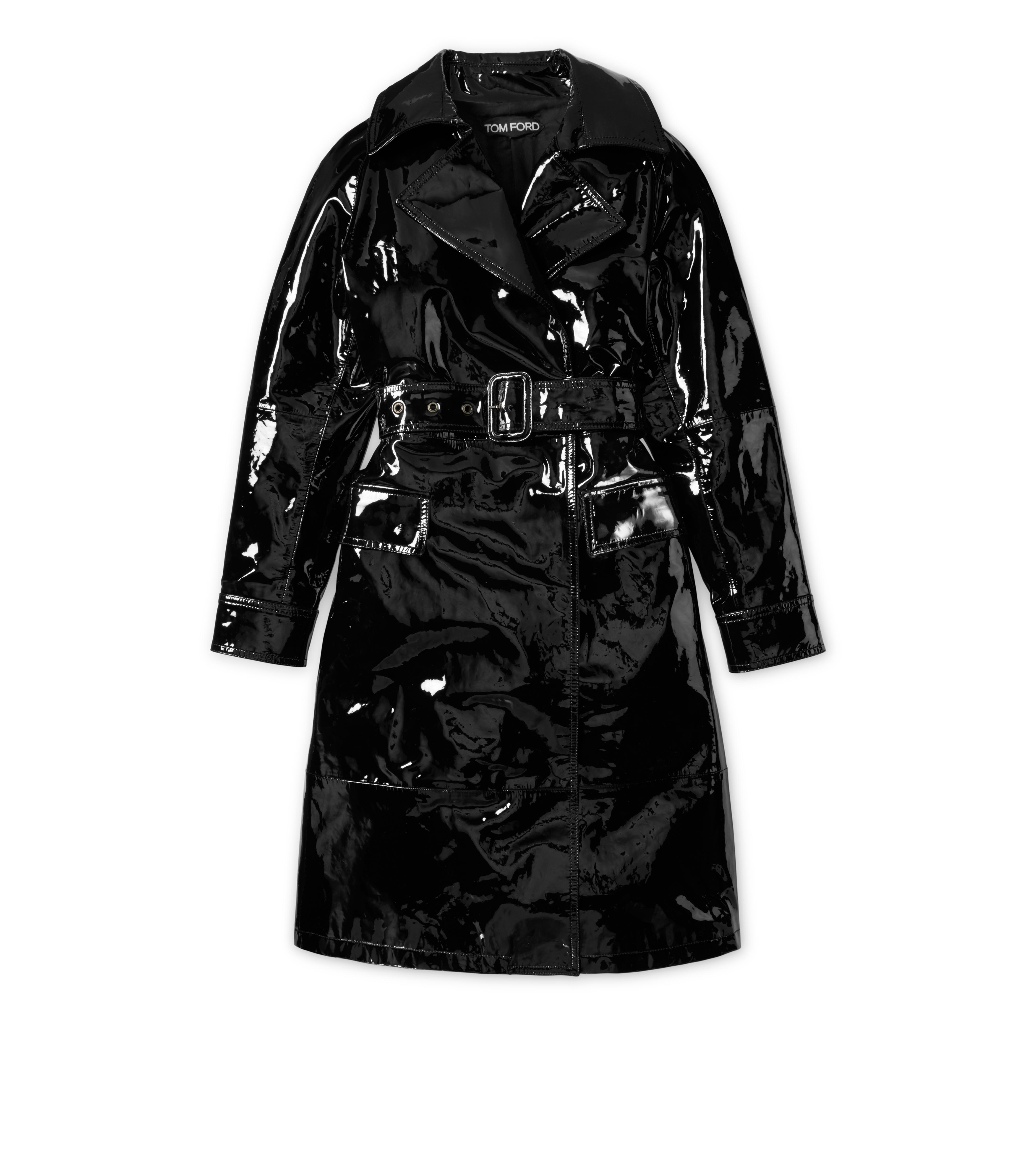 PATENT LEATHER TRENCH COAT A thumbnail