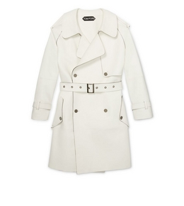 3004791211 LEATHER TRENCH COAT