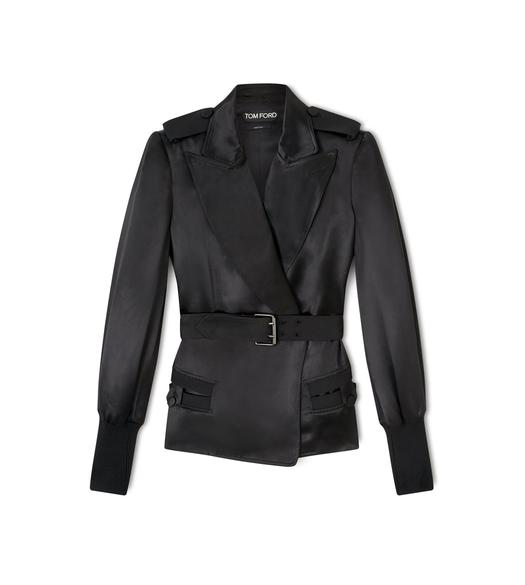 SELF BONDED BELT BLAZER JACKET