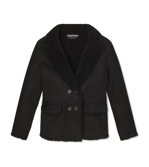 LUX COMPACT SHEARLING PEACOAT