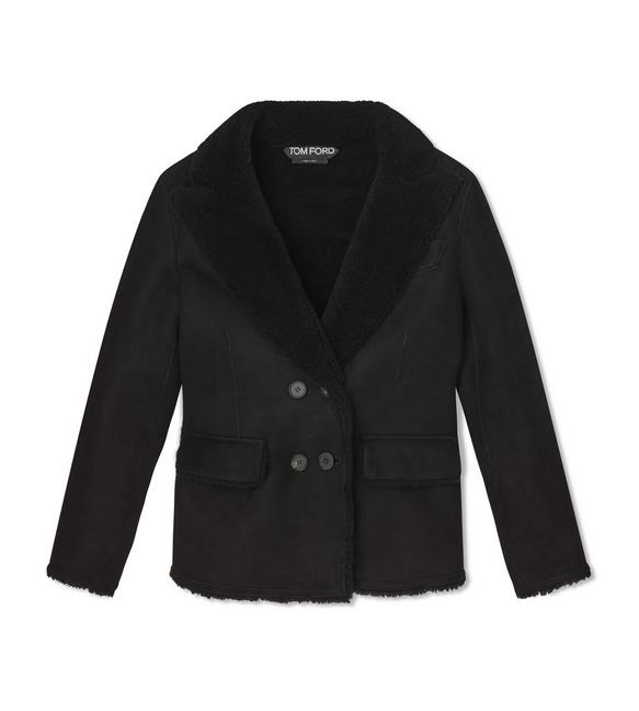 LUX COMPACT SHEARLING PEACOAT A fullsize