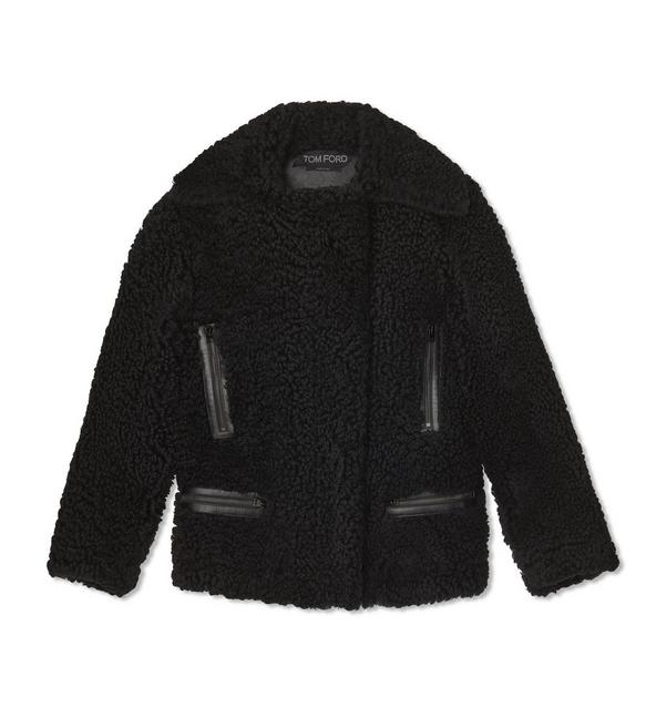 LUXE CURLY ICELAND SHEARLING ZIPPED JACKET A fullsize
