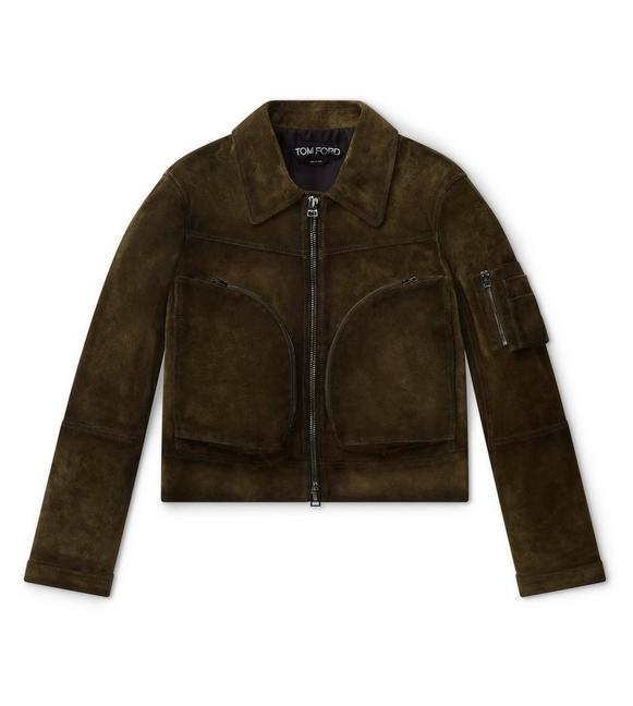 CLOVER ZIP LEATHER JACKET A fullsize