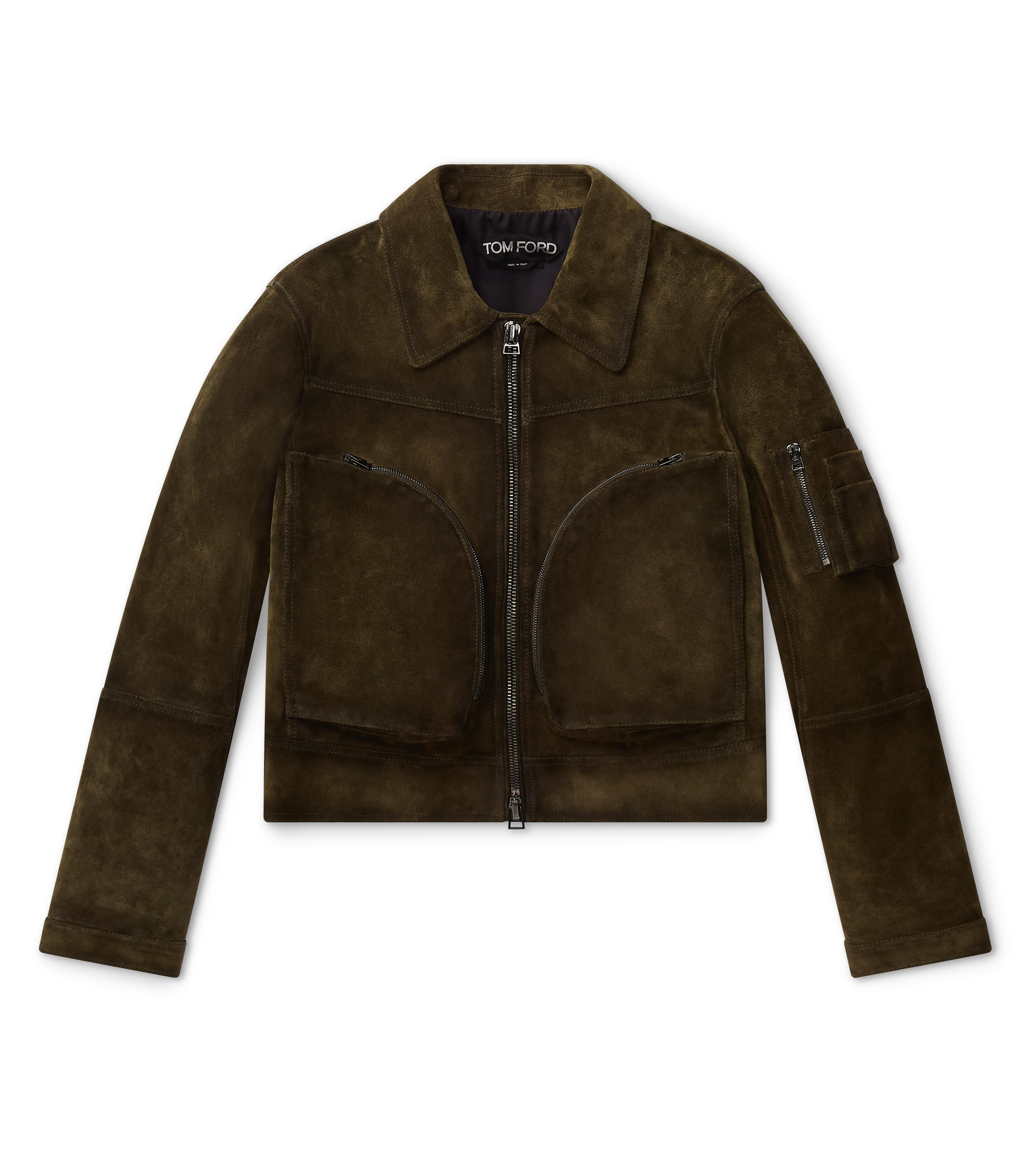 CLOVER ZIP LEATHER JACKET A thumbnail