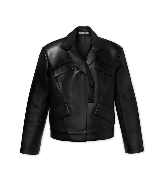 PLONGE LEATHER BIKER JACKET
