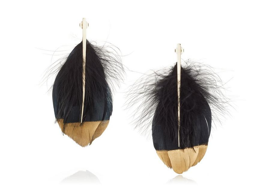Tom Ford FEATHER EARRINGS