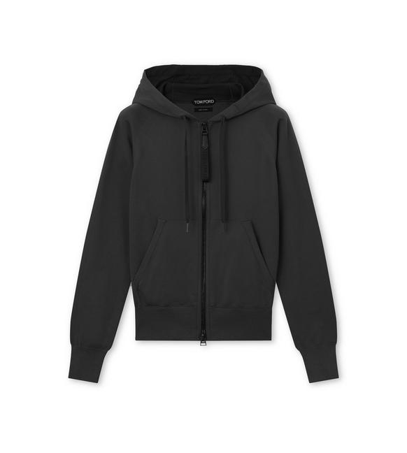 WOOL HOODED TRACKSUIT TOP A fullsize