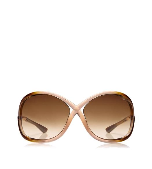 WHITNEY OVERSIZED SOFT ROUND SUNGLASSES