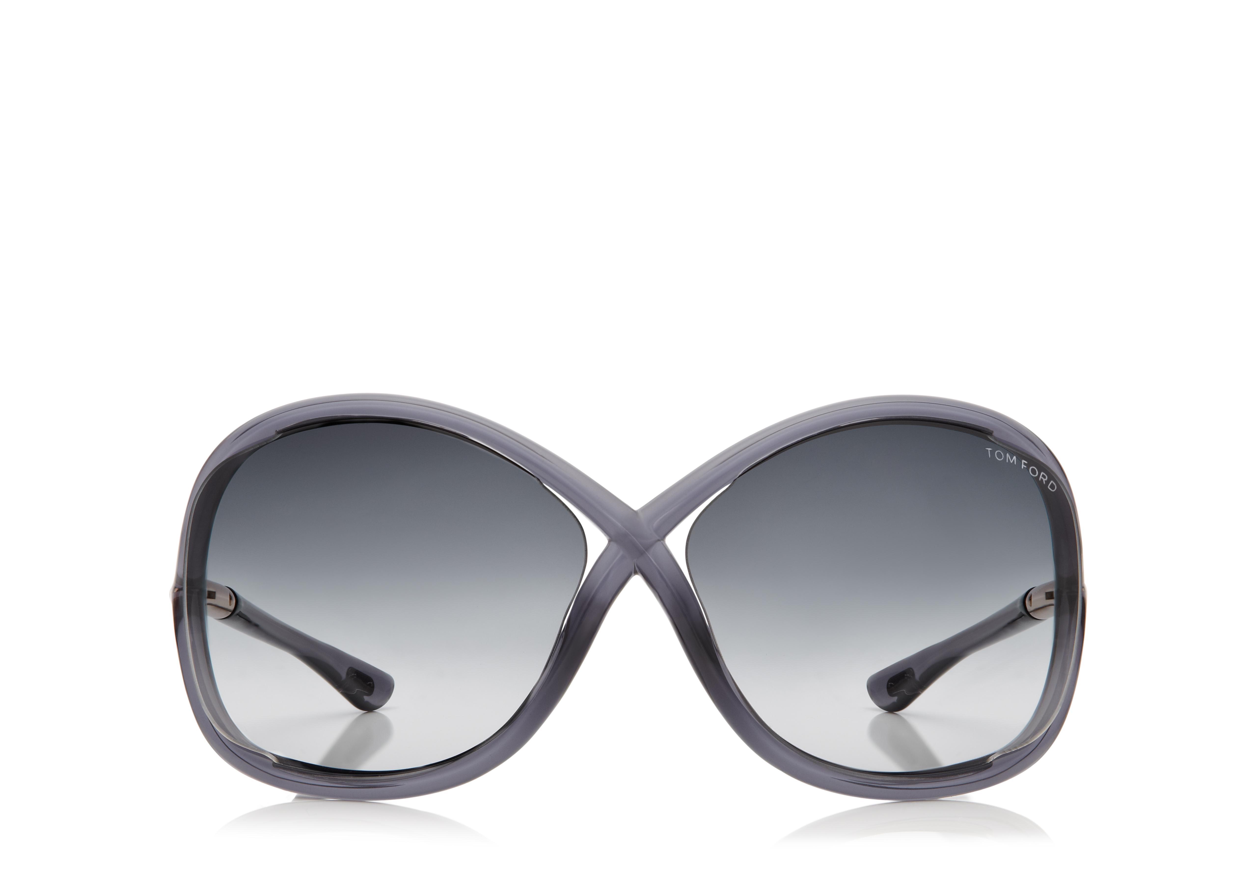 Whitney Oversized Soft Round Sunglasses A thumbnail