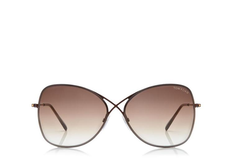 'Colette' 63Mm Oversize Sunglasses - Shiny Rose Gold/ Dark Brown, Darkbrown
