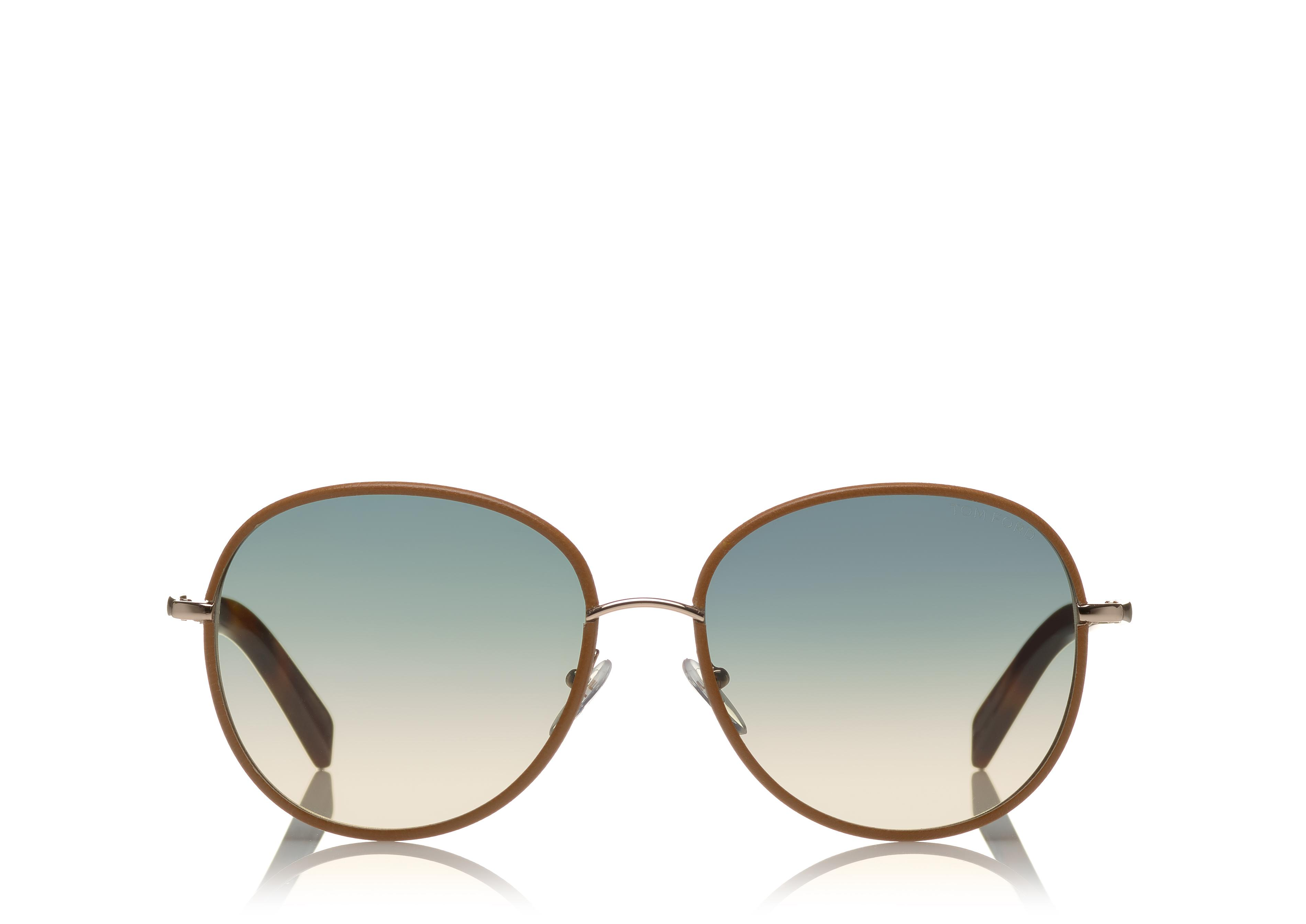 GEORGIA SUNGLASSES IN LEATHER A thumbnail