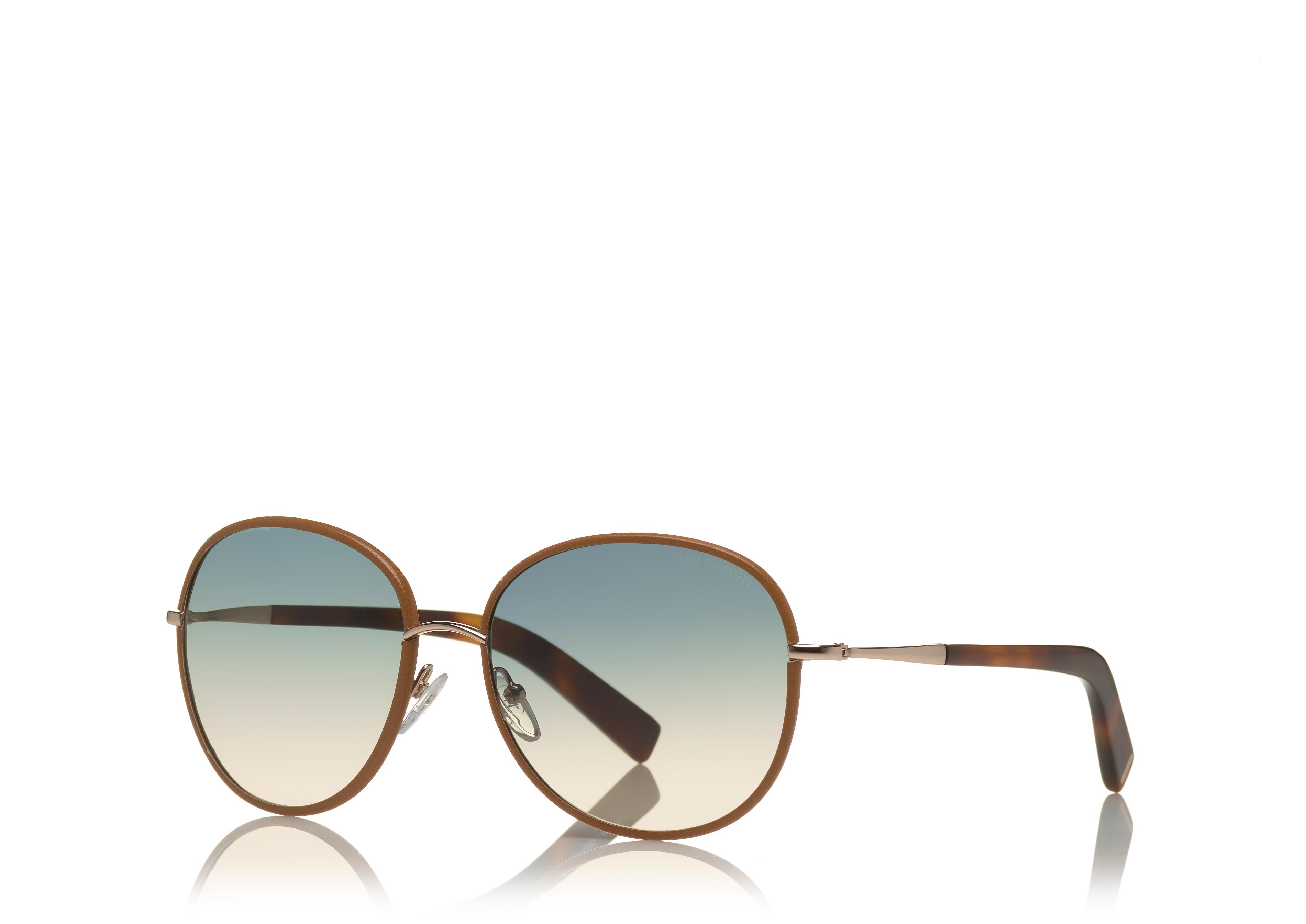 GEORGIA SUNGLASSES IN LEATHER C thumbnail