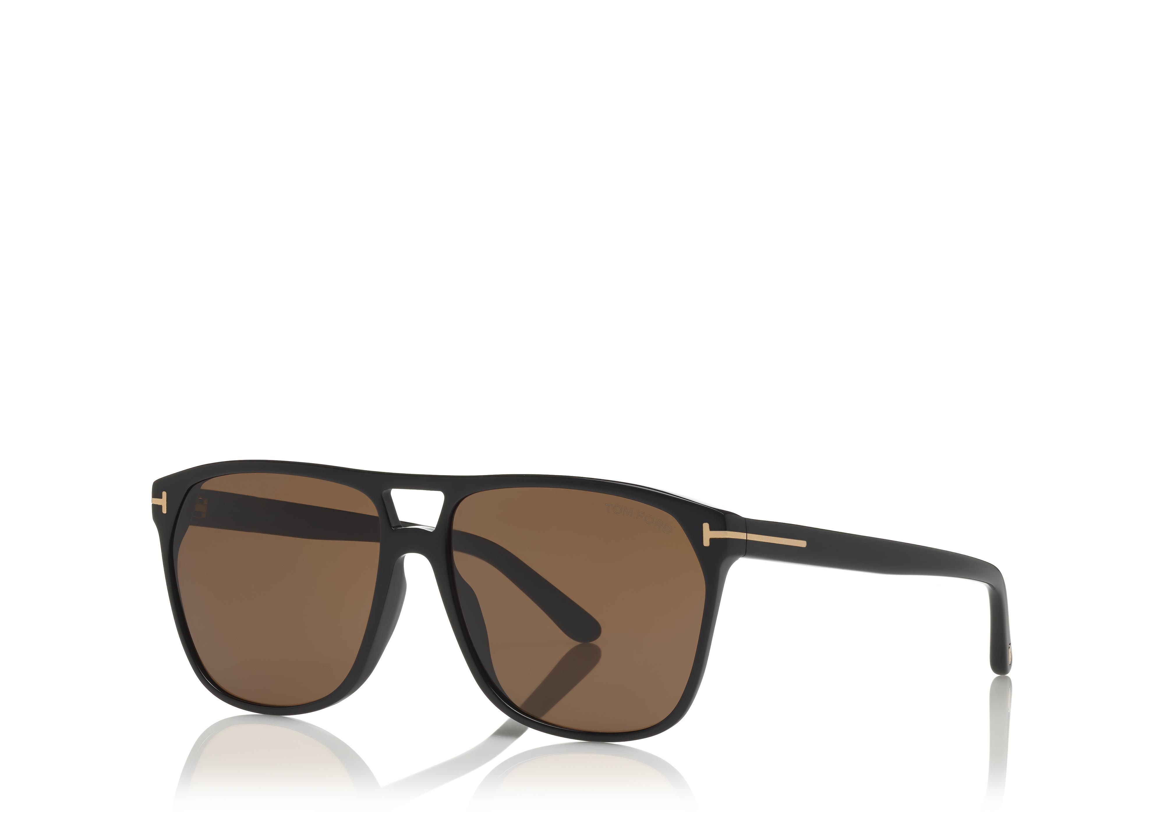 Tom Ford TF 679 FT0679  Shelton shiny red havana smoke polarized 54D Sunglasses