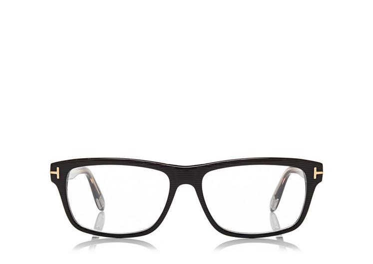 TOM FORD SQUARE OPTICAL FRAME, BLACK-CRYSTAL | ModeSens