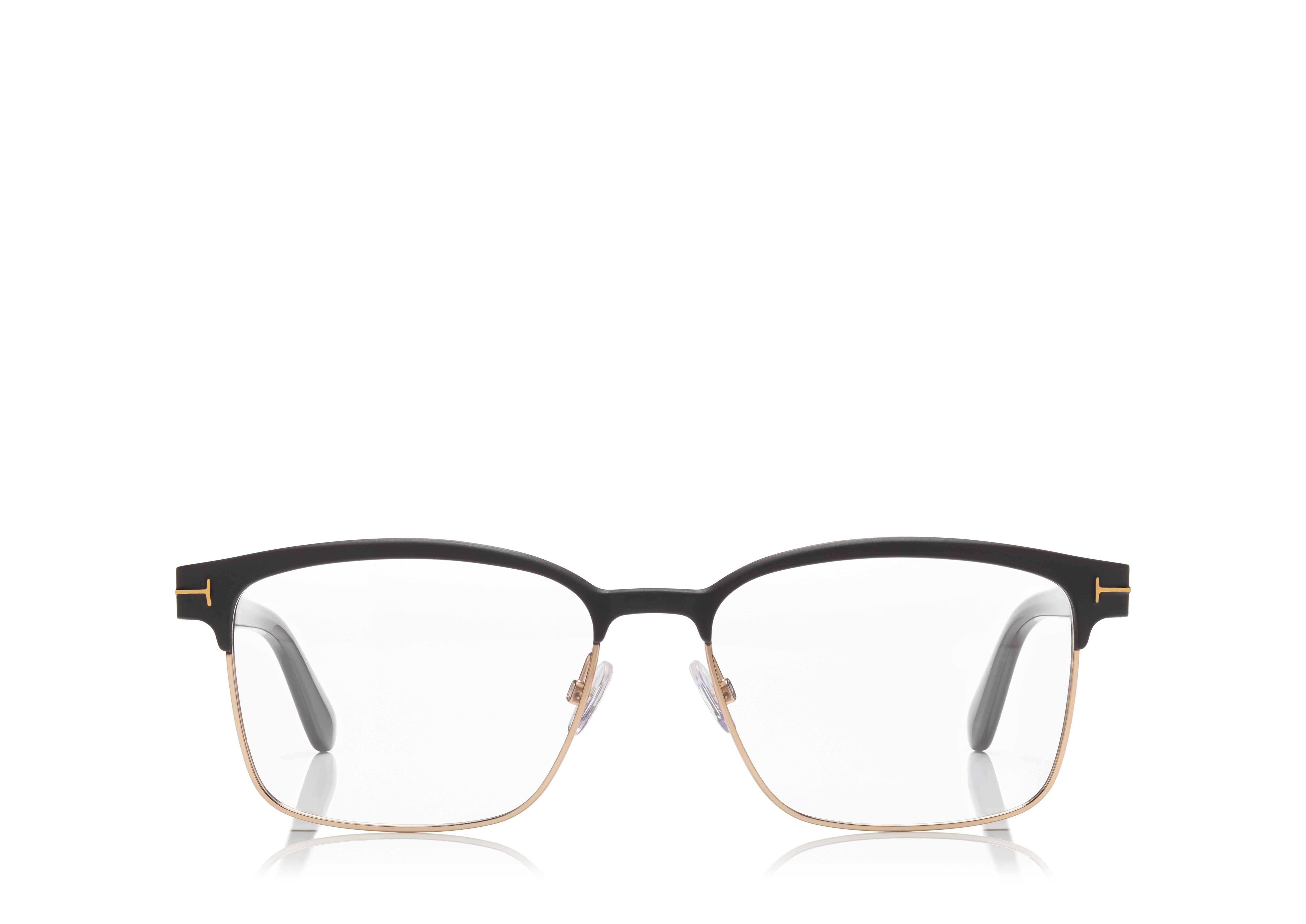 What Kind Of Eyeglass Frames Are In Style : Tom Ford SQUARE METAL OPTICAL FRAME TomFord.com