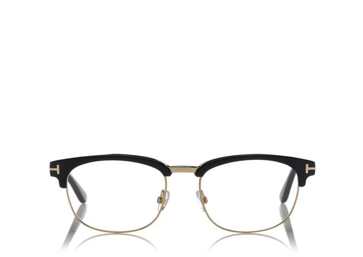 Tom Ford Soft Square Metal Optical Frame In Black | ModeSens