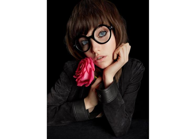 OVERSIZED ROUND OPTICAL FRAME D fullsize