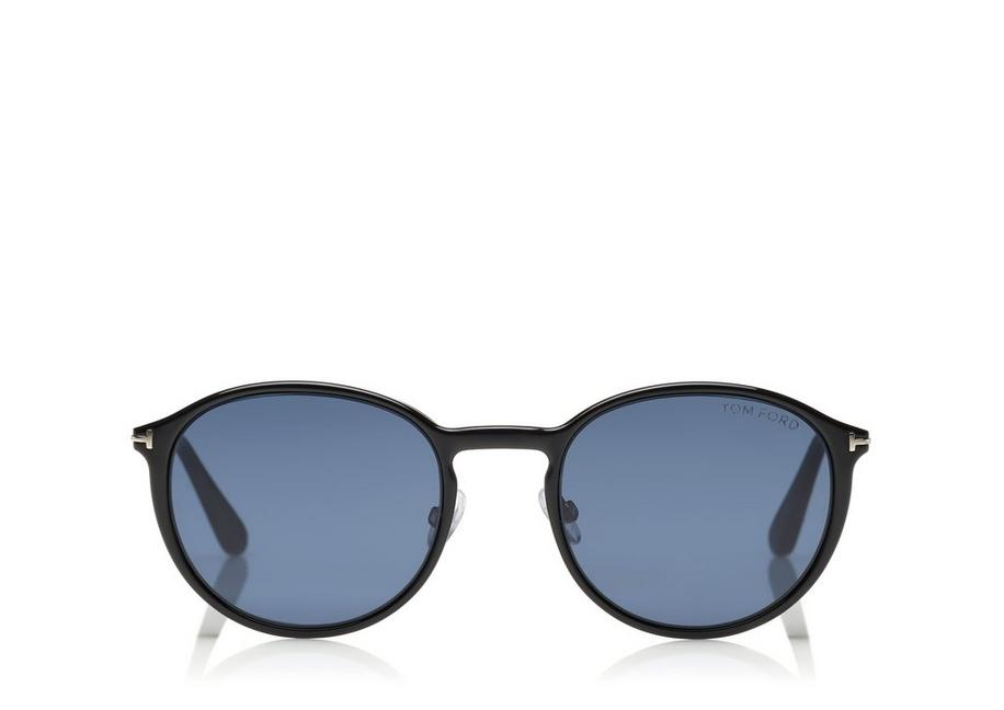 Tom Ford SOFT ROUNDED OPTICAL FRAME WITH MAGNETIC CLIP - Men ...