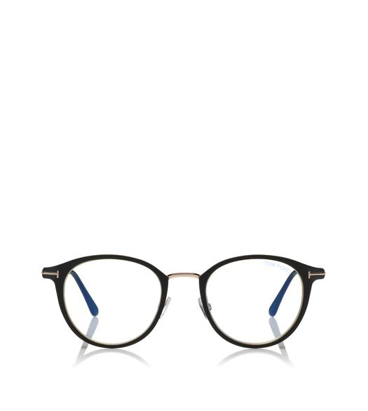 262d02e718a6 ROUND METAL BLUE BLOCK OPTICALS.  470. BLUE BLOCK HALF-RIM OPTICALS