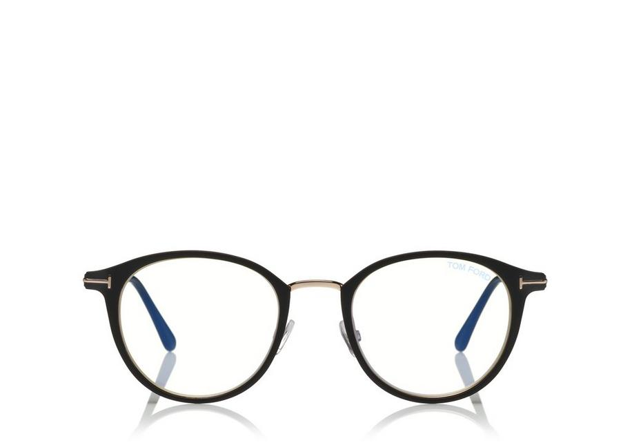ROUND METAL BLUE BLOCK OPTICALS A fullsize