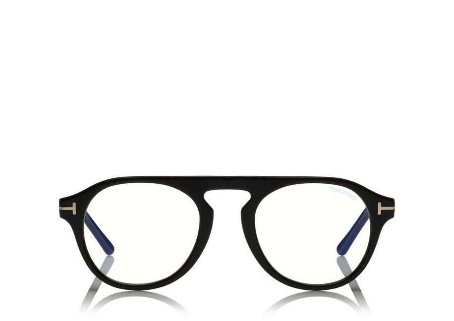 Blue Block Keyhole Opticals With Magnetic Clip in 01Vshblkblu